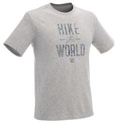 Camiseta senderismo en la naturaleza hombre NH500 gris jaspeado