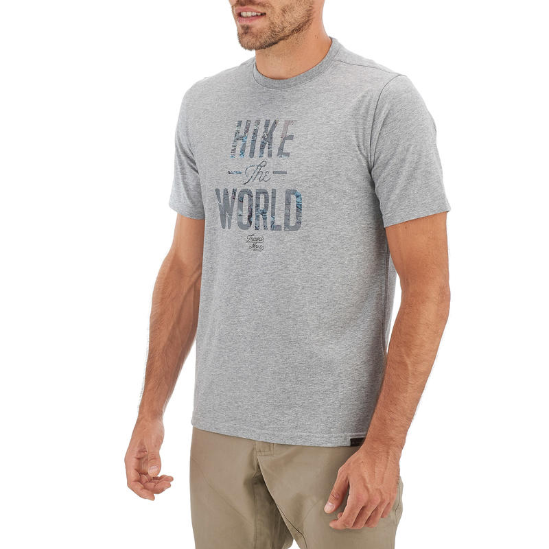 NH500 Men's Country Walking T-Shirt - Mottled Light Grey