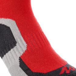 2 pares de calcetines de senderismo tobillo alto niño Crossocks rojo