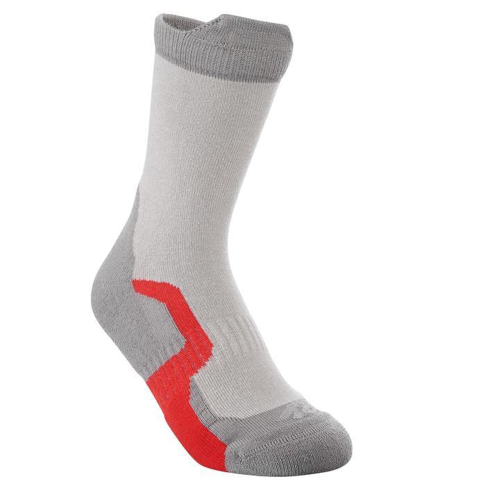 2 paires de chaussettes de randonnée montagne tige haute enfant crossocks rouge
