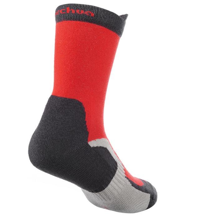 2入兒童款登山健行高筒襪crossocks-紅色