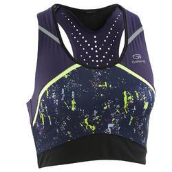 Sporttopje voor hardlopen dames Kiprun Kalenji print paars