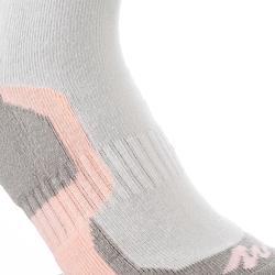 2 paires de chaussettes de randonnée montagne tige haute enfant crossocks violet
