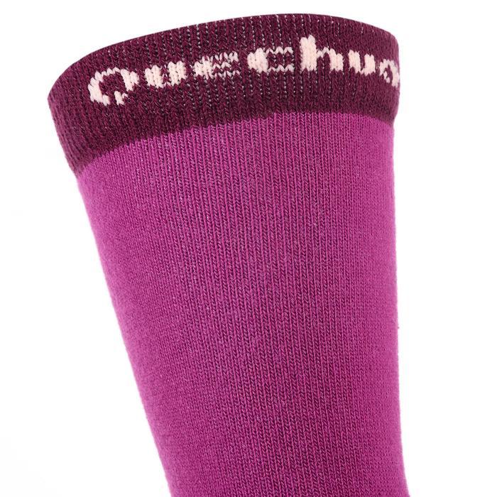 2入兒童款登山健行高筒襪Crossocks-紫色