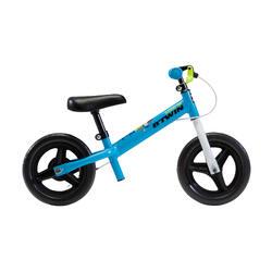 Bicicleta sin pedales infantil 10 pulgadas RunRide 500 Azul Verde