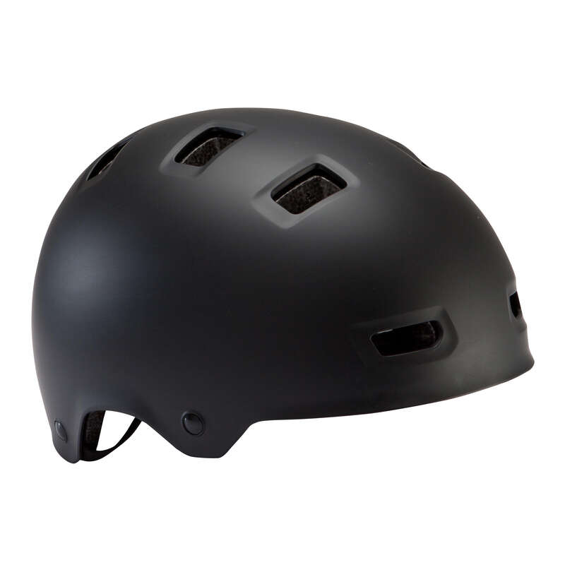 KIDS BIKE HELMETS Cycling - 500 Teen Cycling Helmet Black BTWIN - Bike Helmets