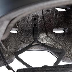 Casque roller skateboard trottinette MF540 prune gris