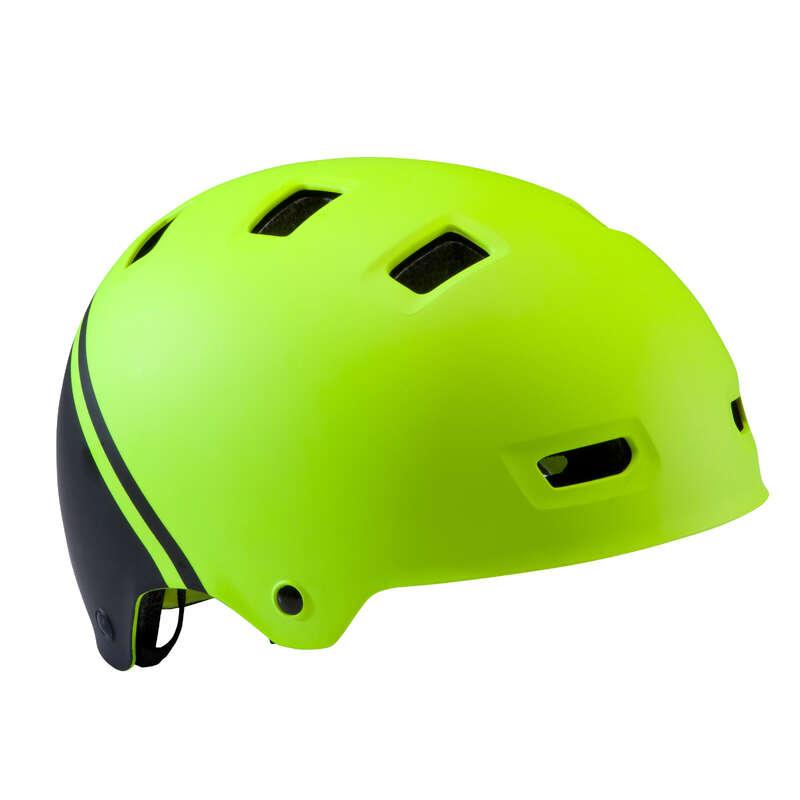 KIDS BIKE HELMETS Cycling - Teen 520 Cycling Helmet - Neon BTWIN - Bike Helmets