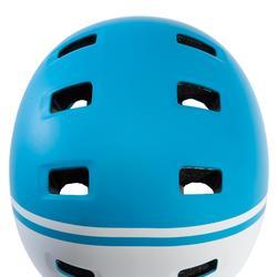 Fahrradhelm 520 Teen blau/weiss
