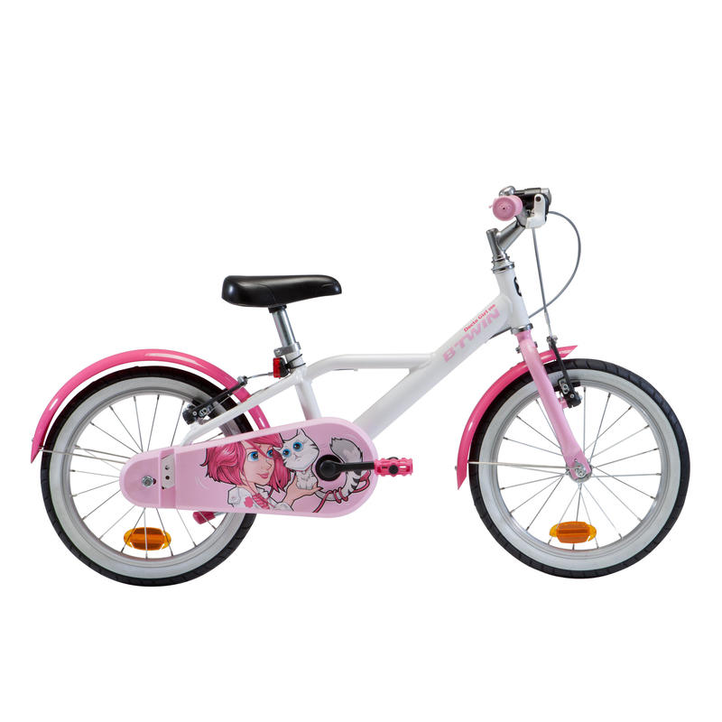 500 Kids' 16-Inch Bike (4.5-6 Years) - Docto Girl