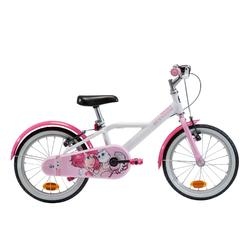 Kinderfahrrad 16 Zoll 500 Docto Girl weiß/pink