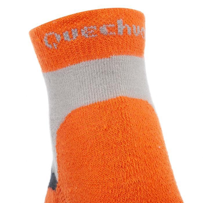 2 paires de chaussettes de randonnée montagne tige mid enfant crossocks Turquois - 1259125