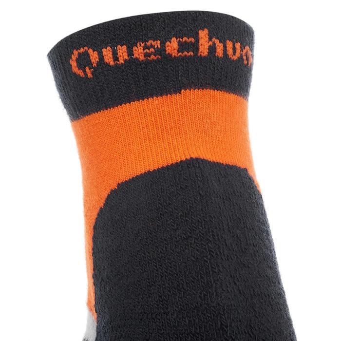 2 paires de chaussettes de randonnée montagne tige mid enfant crossocks Turquois - 1259126