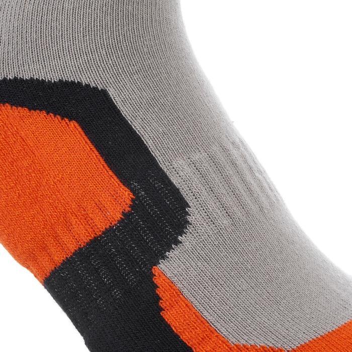 2 paires de chaussettes de randonnée montagne tige mid enfant crossocks Turquois - 1259130
