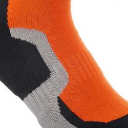 2 paar halfhoge sokken voor bergwandelingen crossocks oranje
