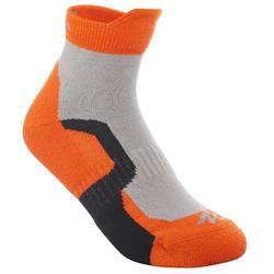 2 paires de chaussettes de randonnée montagne tige mid enfant crossocks orange