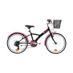 Hybride kinderfiets 20 inch 6 tot 9 jaar Original 500 zwart/roze