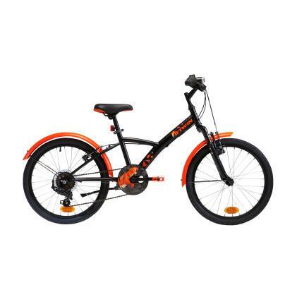 Bicicleta de trekking_20_pouces_decathlon_noir-laranja