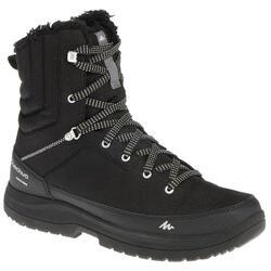 Chaussures de randonnée neige homme SH100 chaude haute noires.