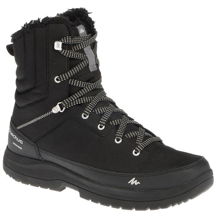 Chaussures de randonnée neige homme SH100 warm high noires. - 1259162
