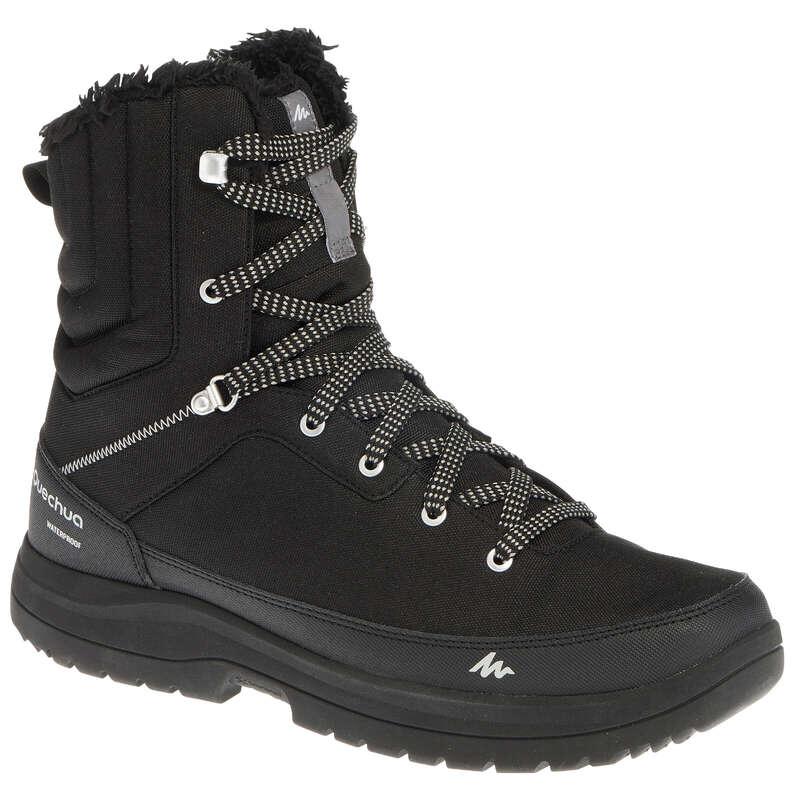 МЪЖКИ ОБУВКИ ЗА ПРЕХОДИ В СНЯГ Обувки - МЪЖКИ ОБУВКИ SH100 U-WARM HIGH QUECHUA - Мъжки обувки