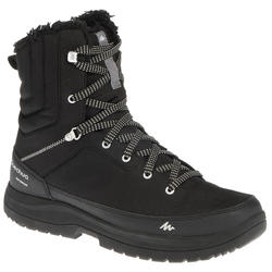 SH100 Man black high hiking snow boots.