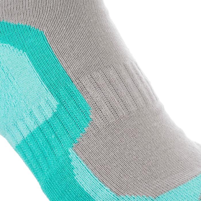 2 paires de chaussettes de randonnée montagne tige mid enfant crossocks Turquois - 1259163