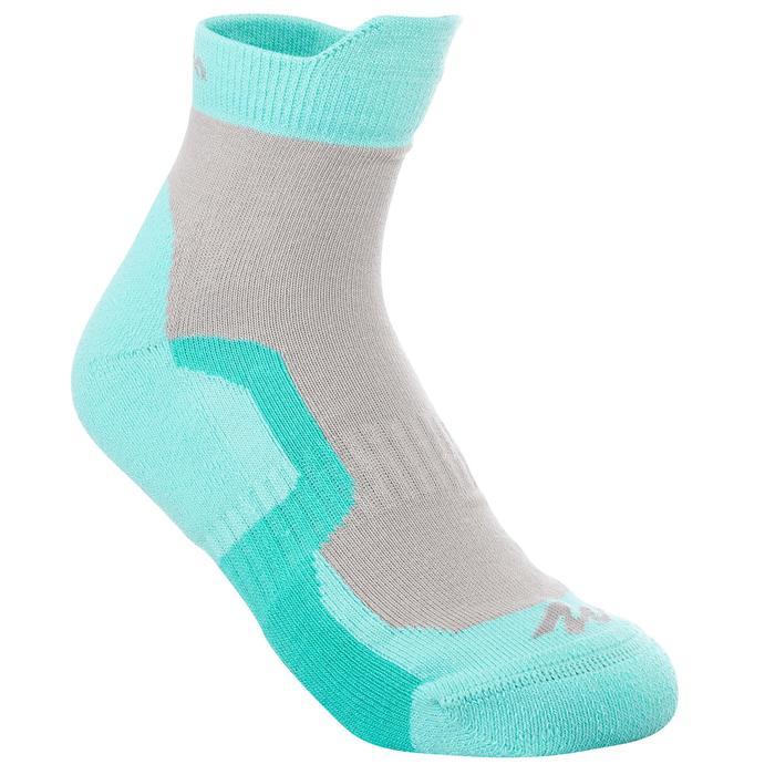 2 paires de chaussettes de randonnée montagne tige mid enfant crossocks Turquois - 1259165