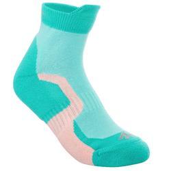 2 pares calcetines de senderismo montaña media caña niños Crossocks Azul turq.