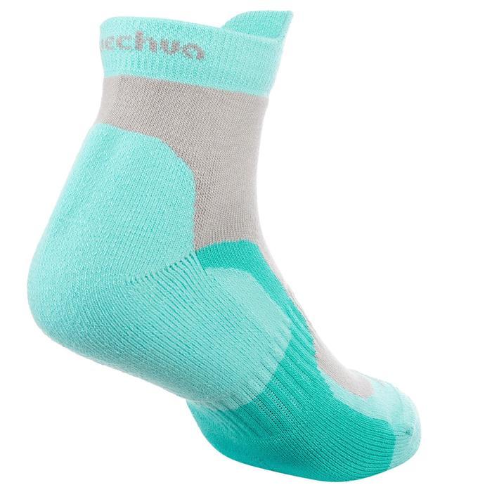 2 paires de chaussettes de randonnée montagne tige mid enfant crossocks Turquois - 1259167
