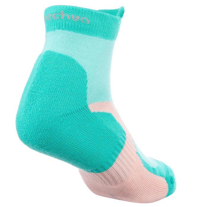 2 paires de chaussettes de randonnée montagne tige mid enfant crossocks Turquois - 1259170