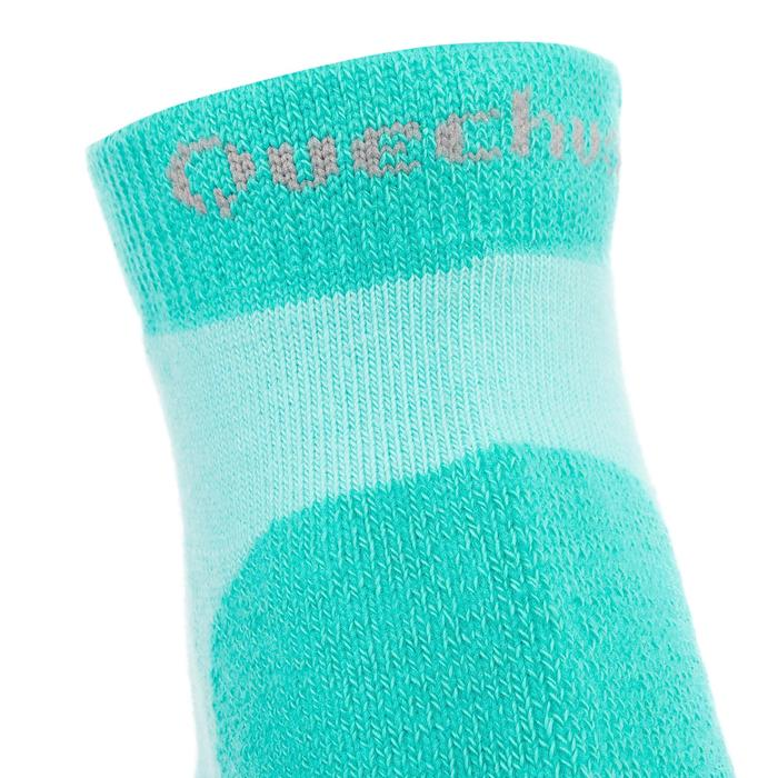 2 paires de chaussettes de randonnée montagne tige mid enfant crossocks Turquois - 1259171