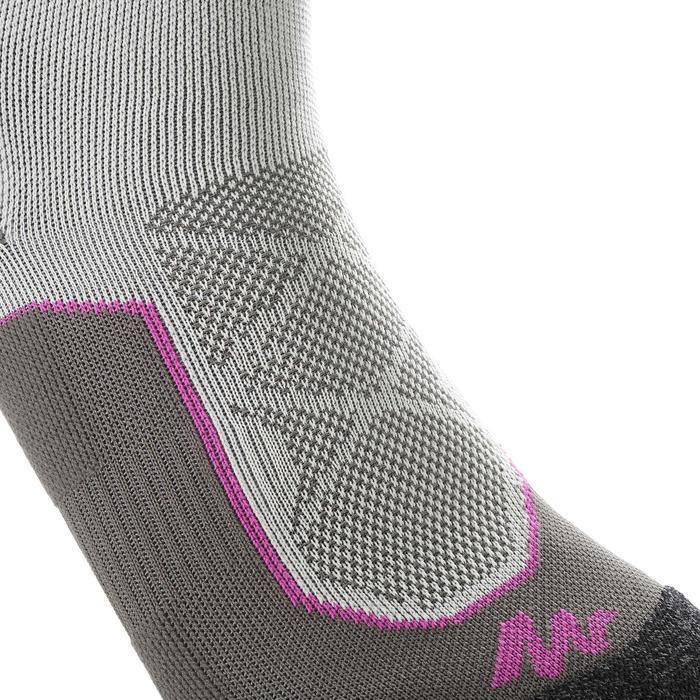 Calcetines largos de senderismo montaña. 2 pares MH 520 gris violeta
