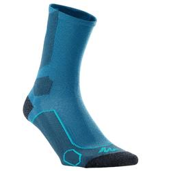 高筒登山健行襪。MH500 (兩雙入)-藍色/灰色