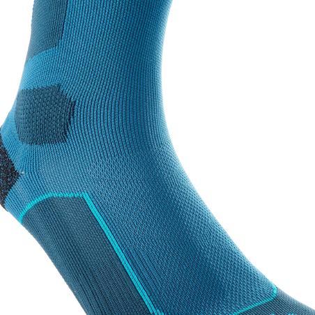 Calcetines largos de senderismo en la montaña 2 pares Forclaz 500 azul gris
