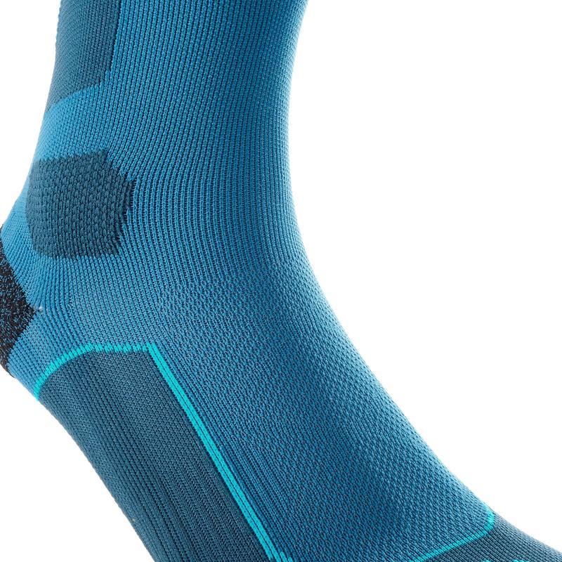 High Mountain Hiking Socks. MH 500 2 Pairs - Blue/Grey
