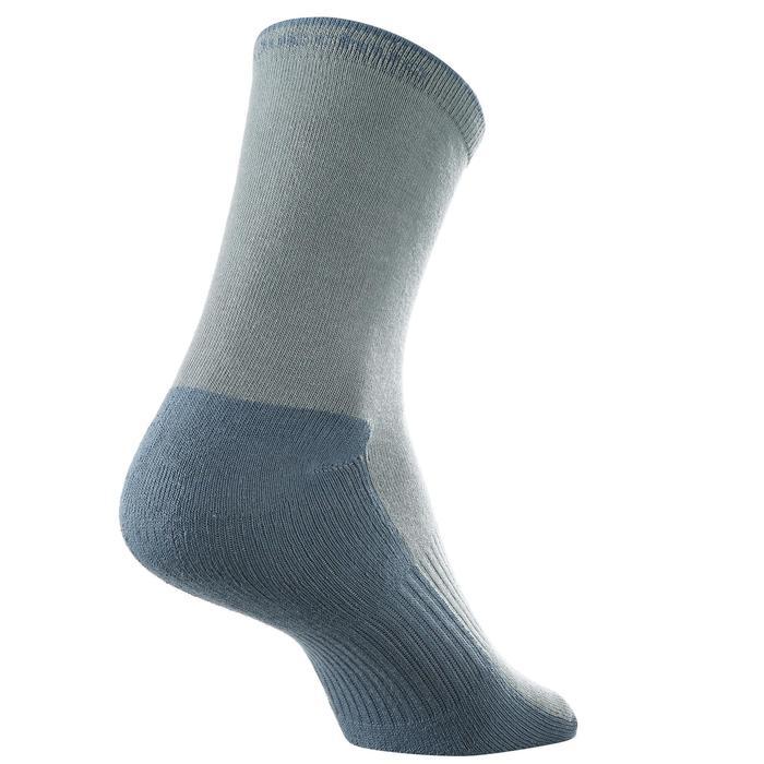 Chaussettes de randonnée enfant Arpenaz 50 tiges hautes gris lot de 2 paires. - 1259193