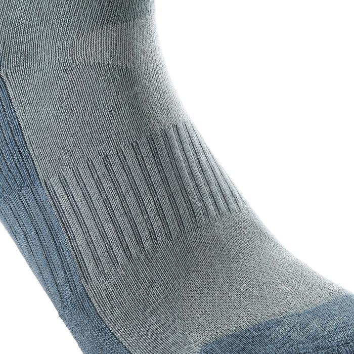 Chaussettes de randonnée enfant Arpenaz 50 tiges hautes gris lot de 2 paires. - 1259195