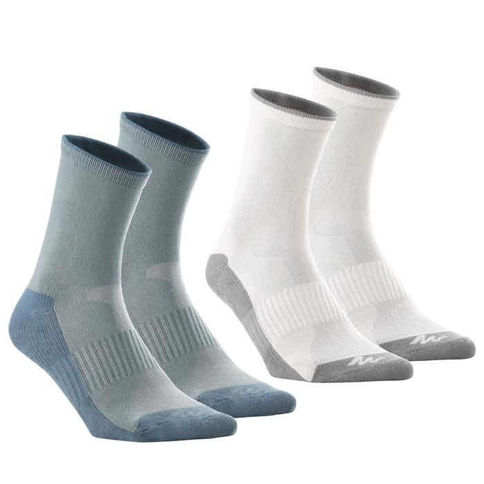 Chaussettes de randonnée enfant Arpenaz 50 tiges hautes gris lot de 2 paires. - 1259197