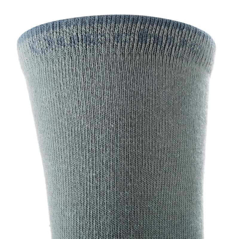 Arpenaz 50 Children's High Top Hiking Socks 2 pairs - Grey.