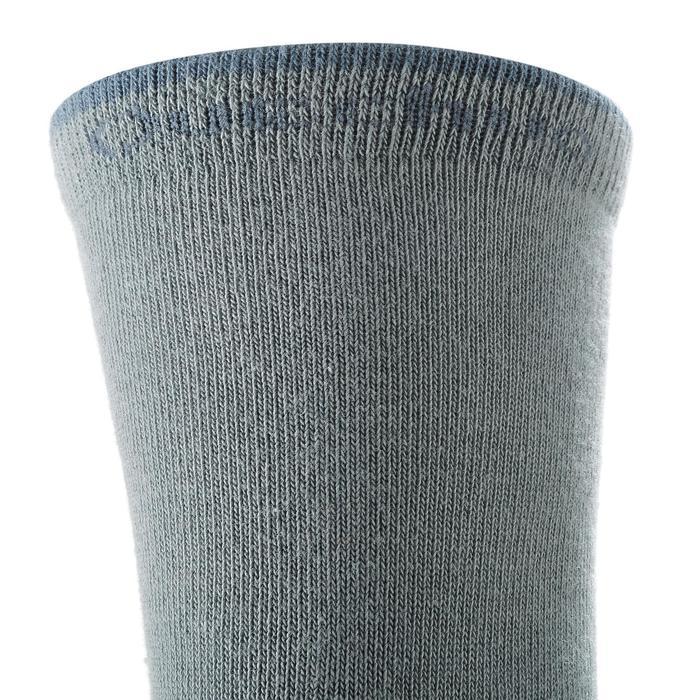 Chaussettes de randonnée enfant Arpenaz 50 tiges hautes gris lot de 2 paires. - 1259199