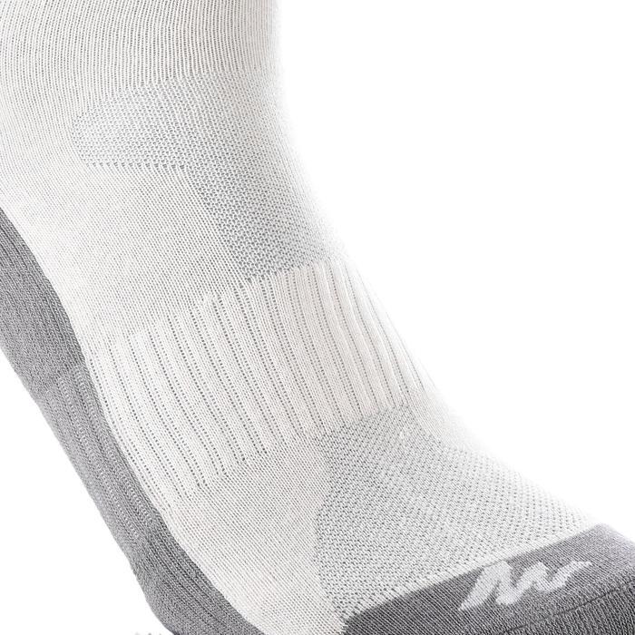 Chaussettes de randonnée enfant Arpenaz 50 tiges hautes gris lot de 2 paires. - 1259200