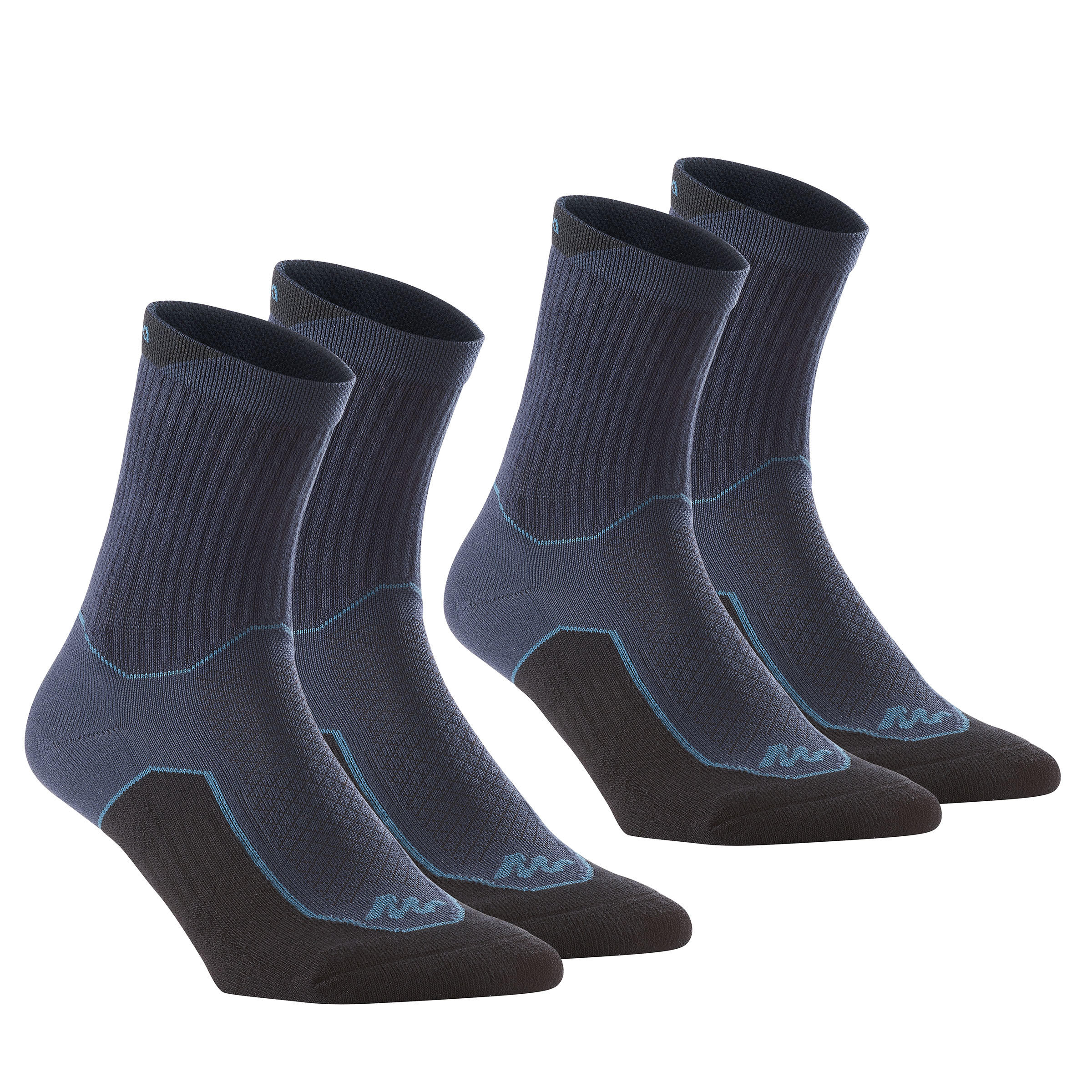 High upper Nature Hiking Socks. Arpenaz 50 2 Pairs - Navy
