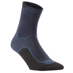 NH100 Country Walking Socks High x 2 Pairs - Navy Blue