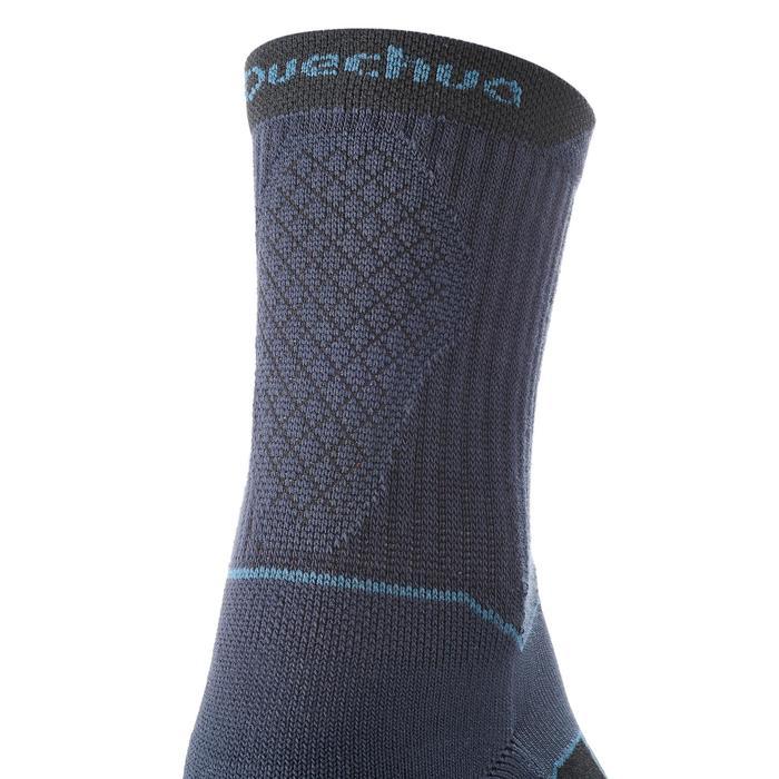 Chaussettes de randonnée Nature tiges high. 2 paires Arpenaz 50 bleu marine