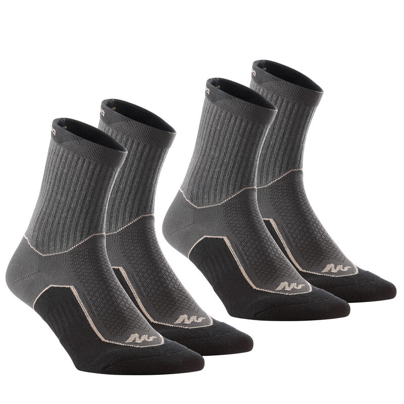 NH500 High country walking socks - black x 2 pairs