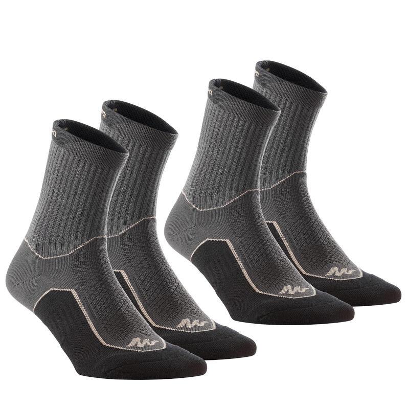 Vysoké turistické ponožky NH500 černé 2 páry