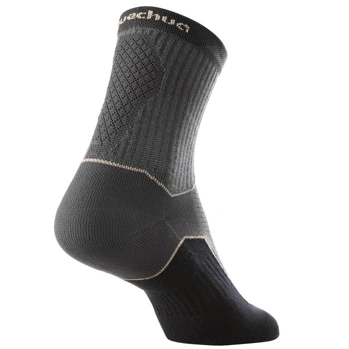 Country walking socks - NH500 High - X2 pairs - black