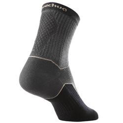 Sokken voor wandelen in de natuur NH500 high zwart 2 paar