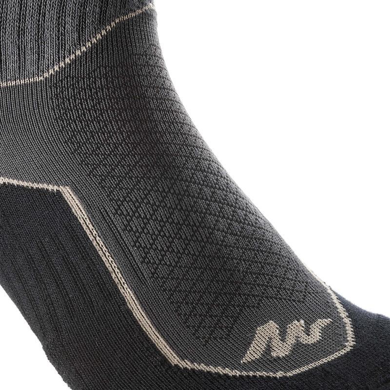 Nature Hiking socks - NH500 High - X2 pairs - black